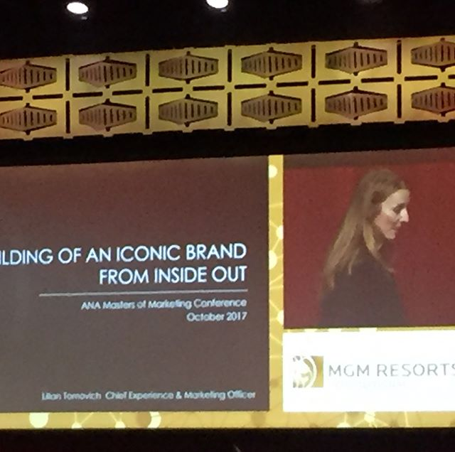 Las Vegas strong.  Lilian Tomovich MGM Resorts presents at ANA on the iconic brand.  It's all experience including entrance