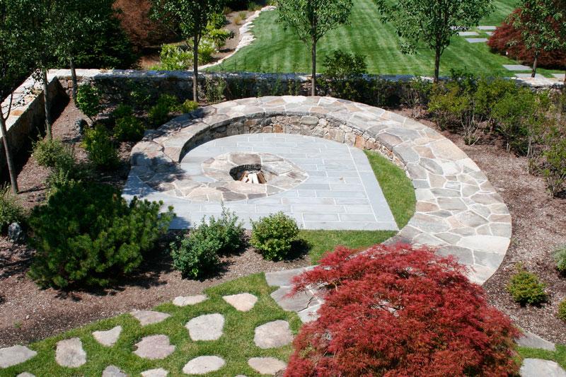 Circular Stone Firepit