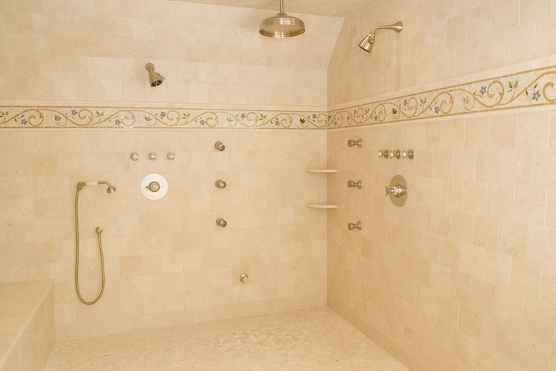 Dual steam shower in master bath