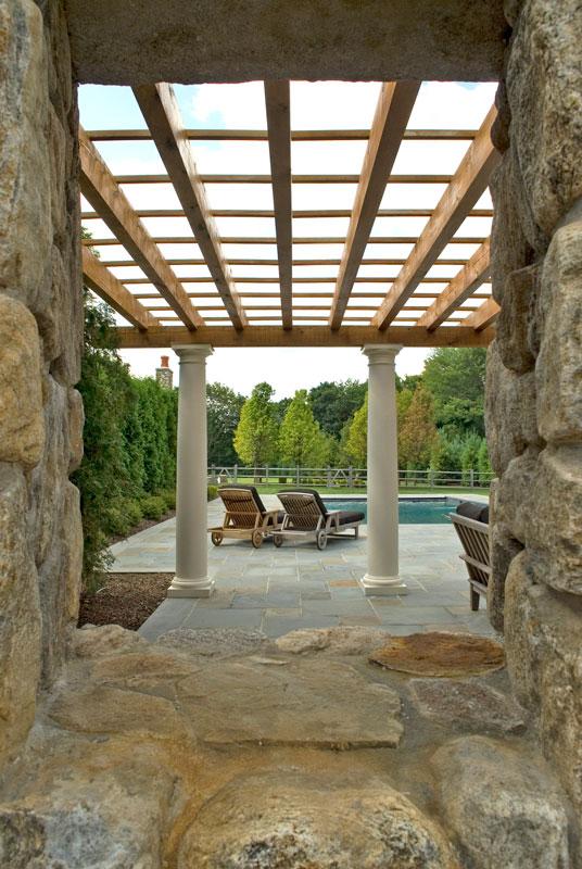 Pergola pool view
