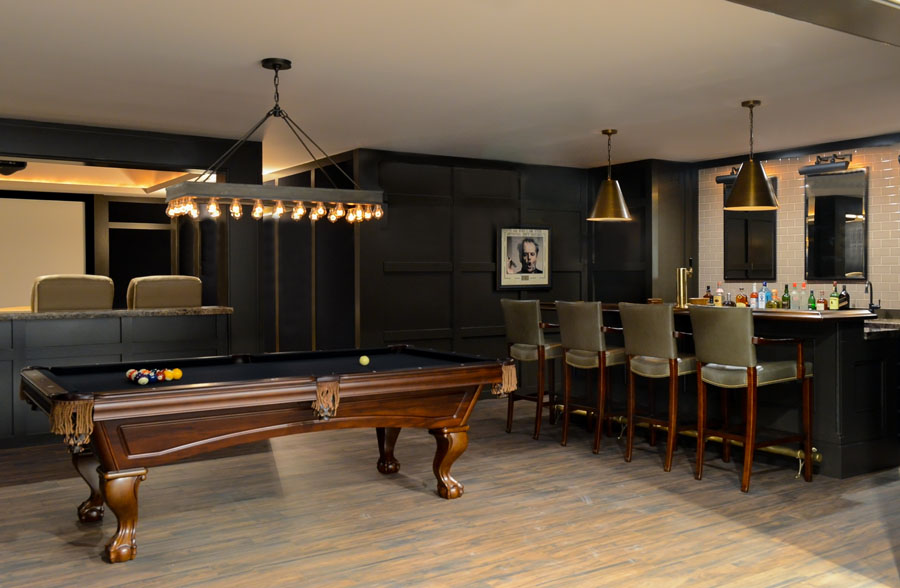 Media room, Bar & Billiards