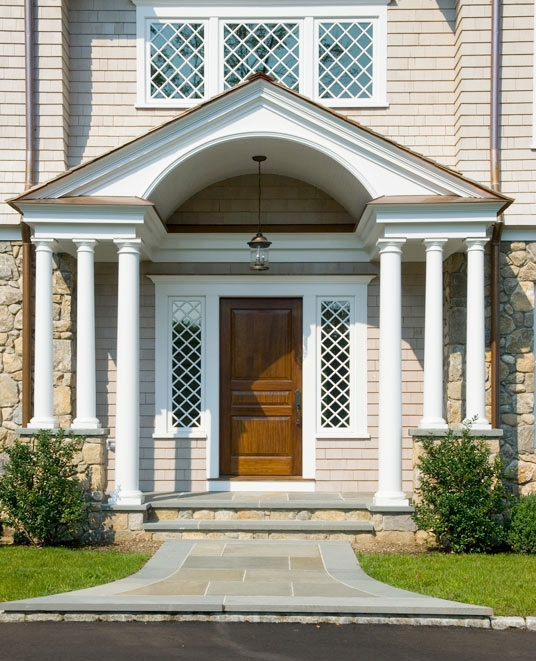 Fieldstone front entry