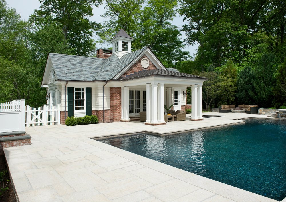 brick and mahogany pool house with slate and copper roof.jpg