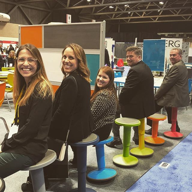 Spectrum of colors at @mooreco_inc  #edspaces2017  #frankcooneycompany #educationalenvironment #kansascity #educationalfurniture
