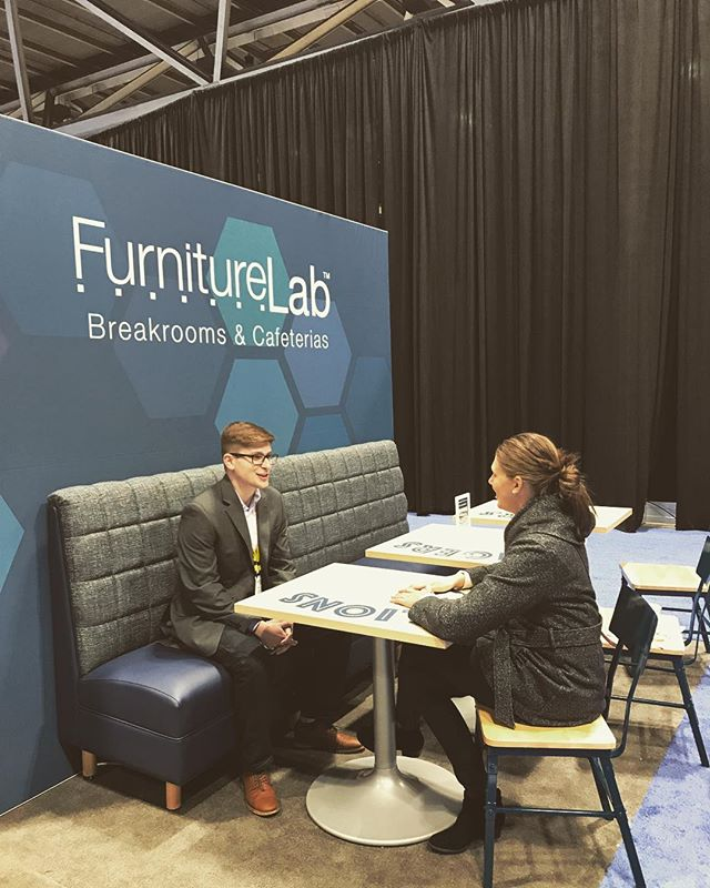 Lisa and David wrapping up a great Edspace @furniturelab  Bye Kansas City!! #frankcooneycompany #educationalenvironments #furniturelab #collaborativelearning #edspaces #edspaces2017