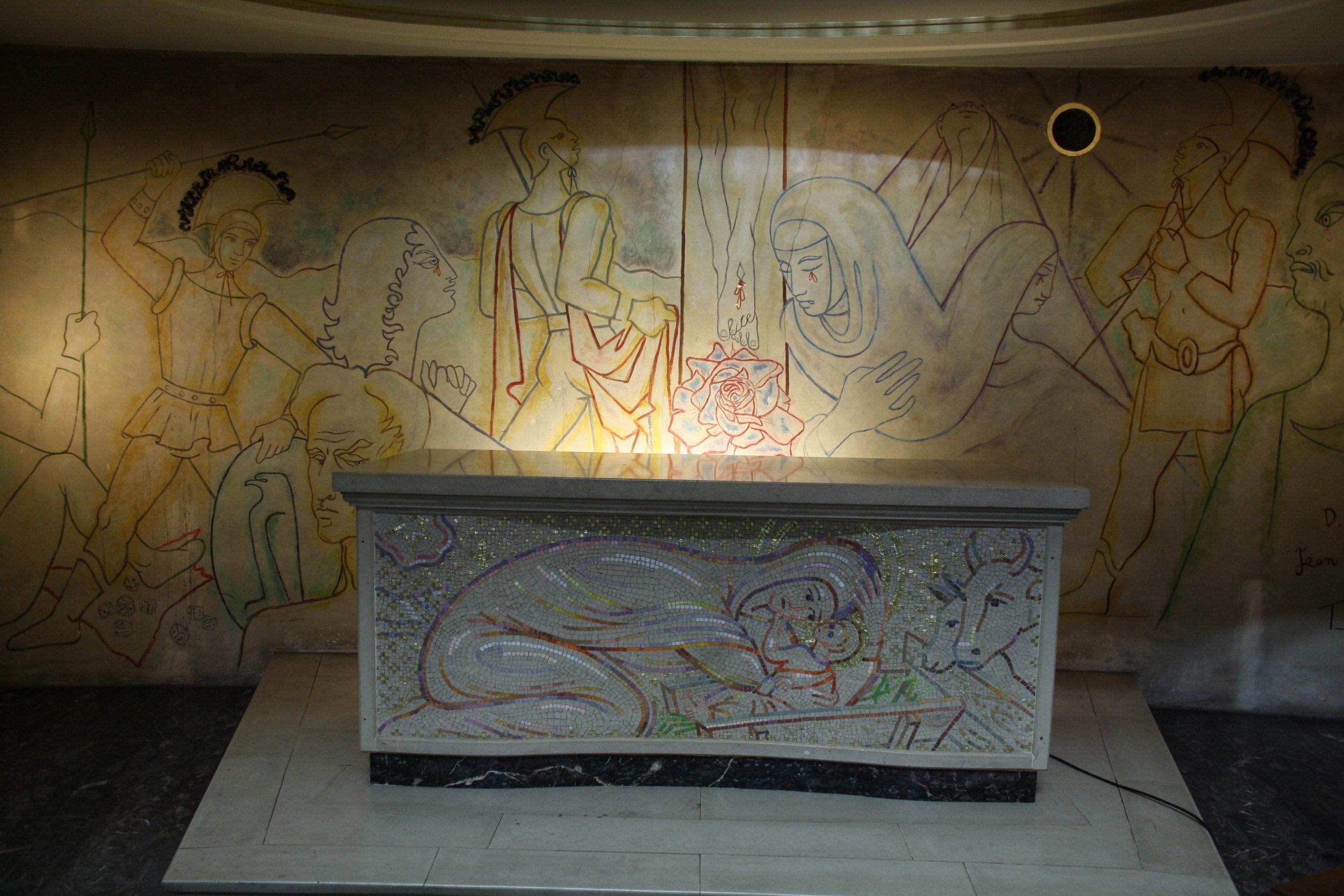 Jean Cocteau Interior Murals And Altar