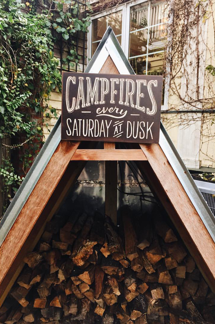 Camp fires every Saturday during Fire and Wine