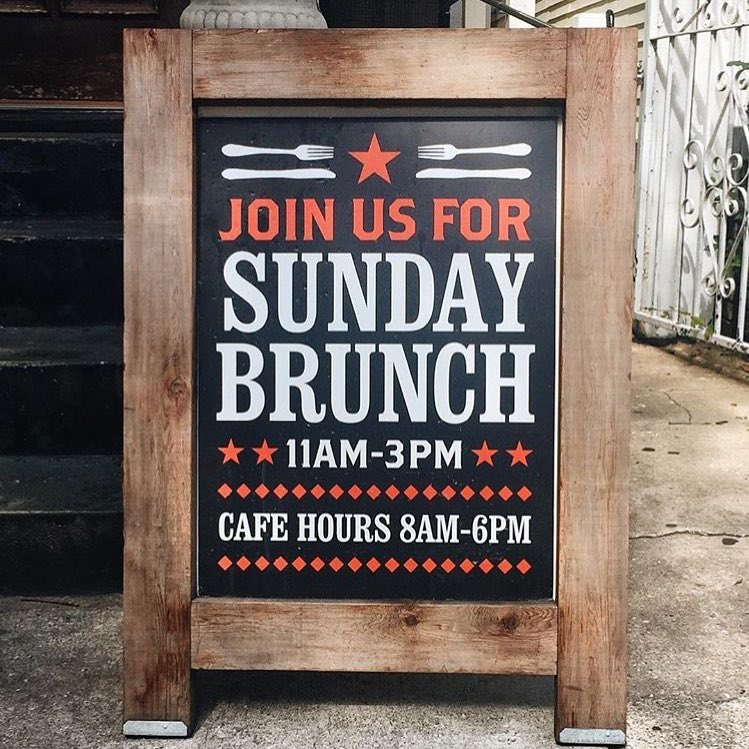 We offer a special brunch menu on Sundays
