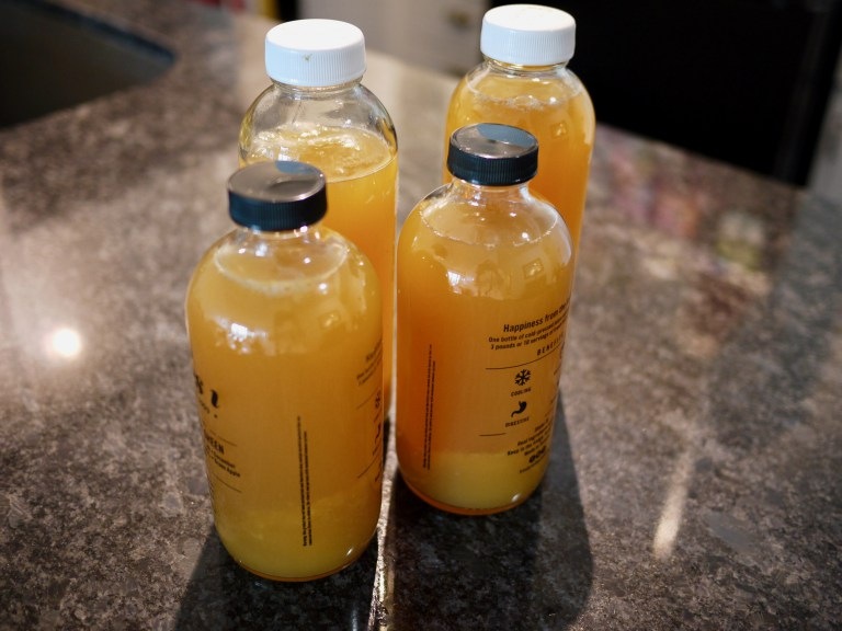 I re-use these kombucha and juice bottles for my secondary ferment because the lids close tightly – this keeps the carbonation in!