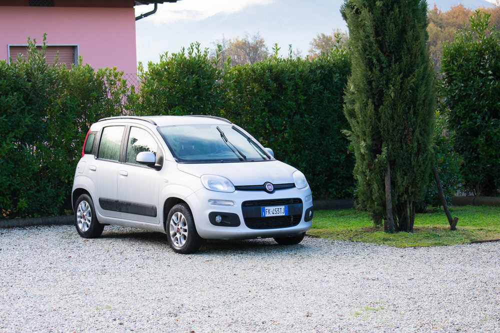 Our Fiat Panda - small, funny-looking and powerless.