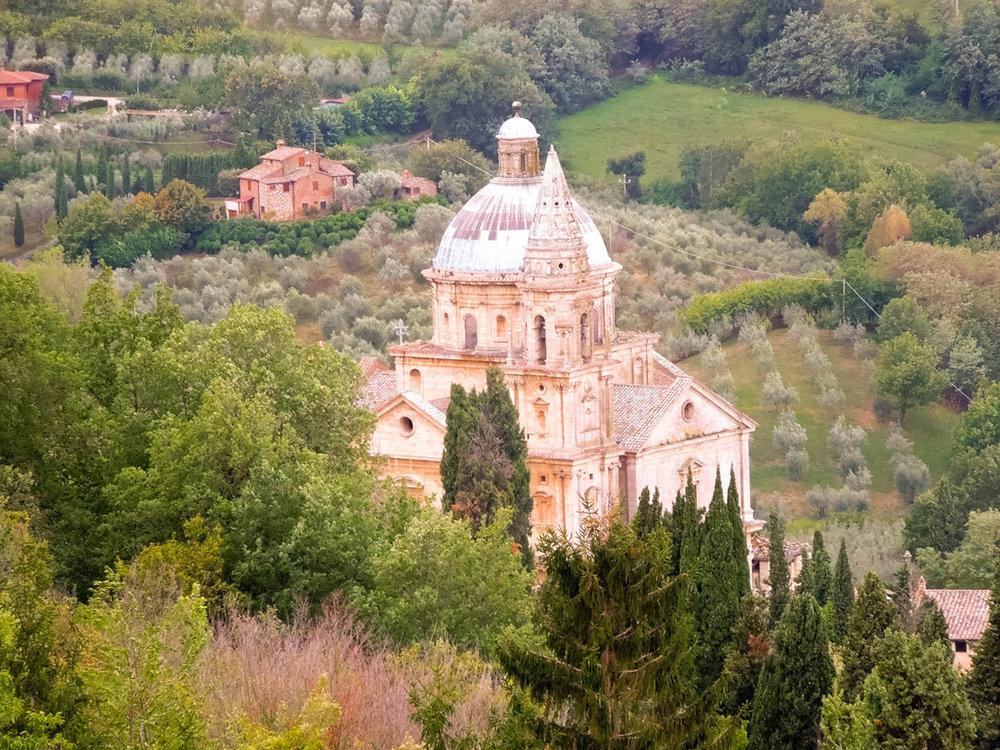 Church of San Biagio in Montepulciano, Italy
