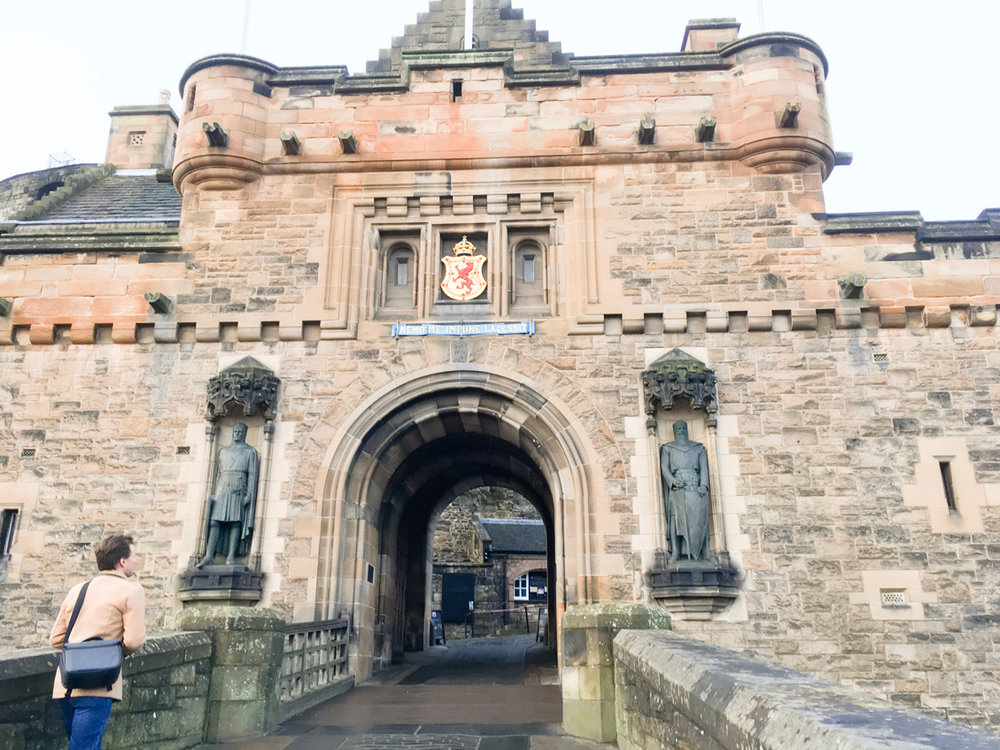 The gatehouse of Edinburgh Castle