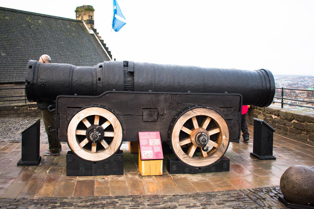Mons Meg - A huge gun that was gifted to James II, King of Scots