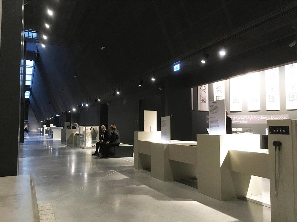 The main corridor inside the exhibition hall
