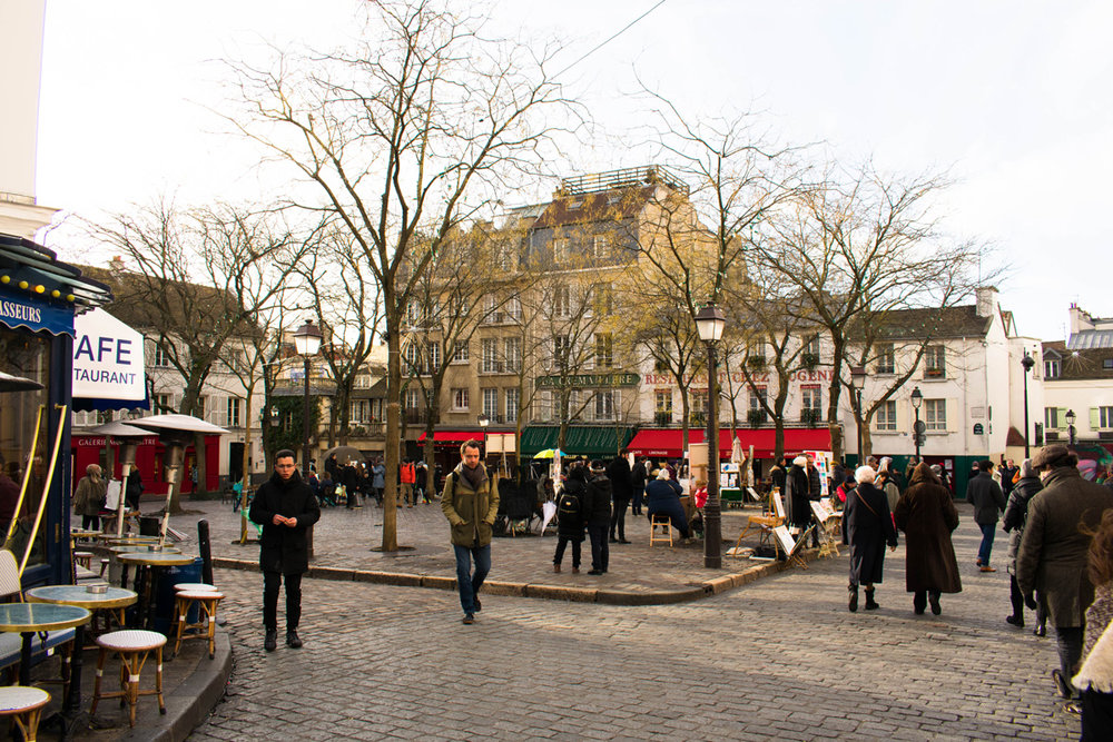Place du Tertre, where all the artists and tourists hang out