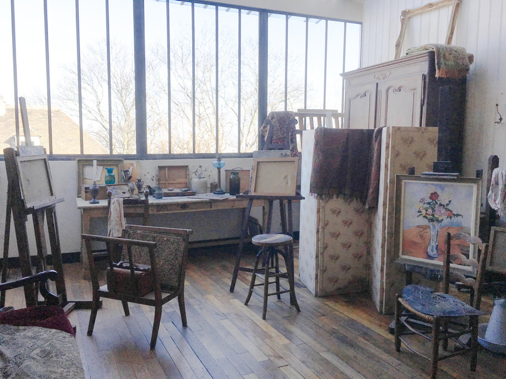 Inside the Musee de Montmartre - a recreation of Utrillo's atelier