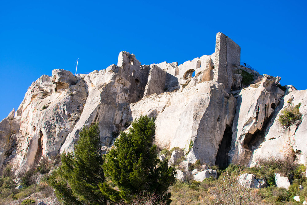 Les Baux from below