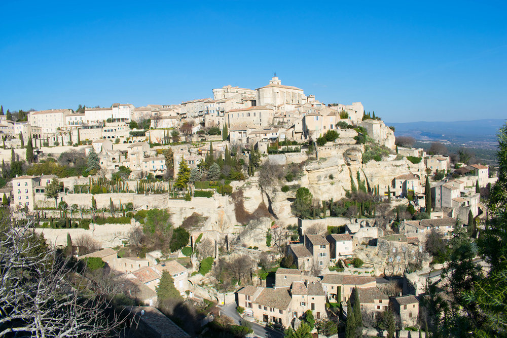 View of Gordes, France