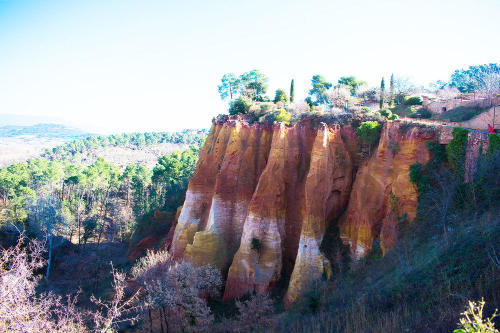 One of the many red cliffs surrounding Roussillon