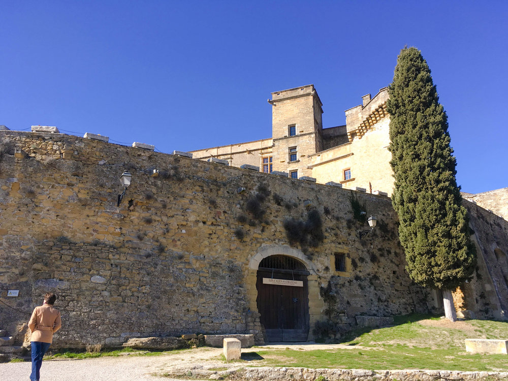 Approaching the chateau in Lourmarin