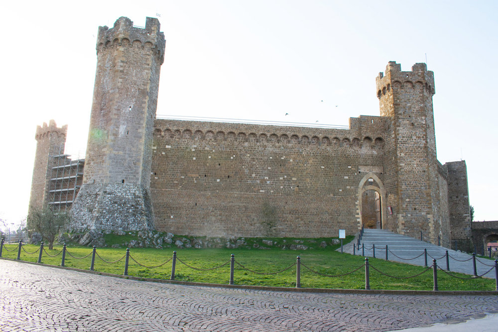 The fortress at the top of Montalcino
