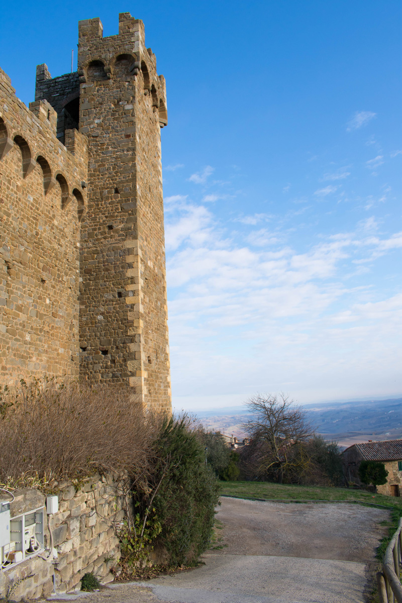 View from the fortress at the top of Montalcino