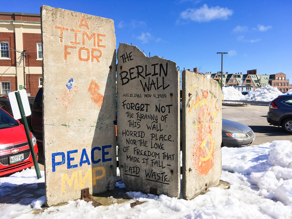 Piece of the Berlin Wall in Portland, Maine