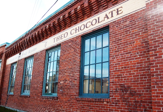 The outside of the Theo Chocolate Factory