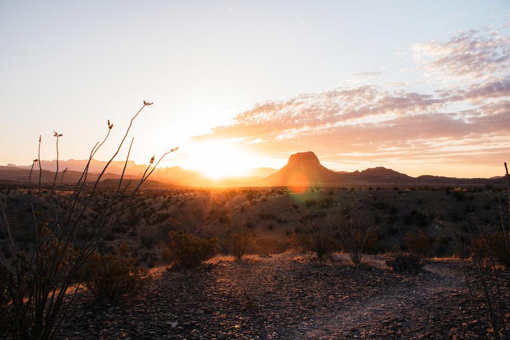 Sunrise in Big Bend - by Riley Heruska