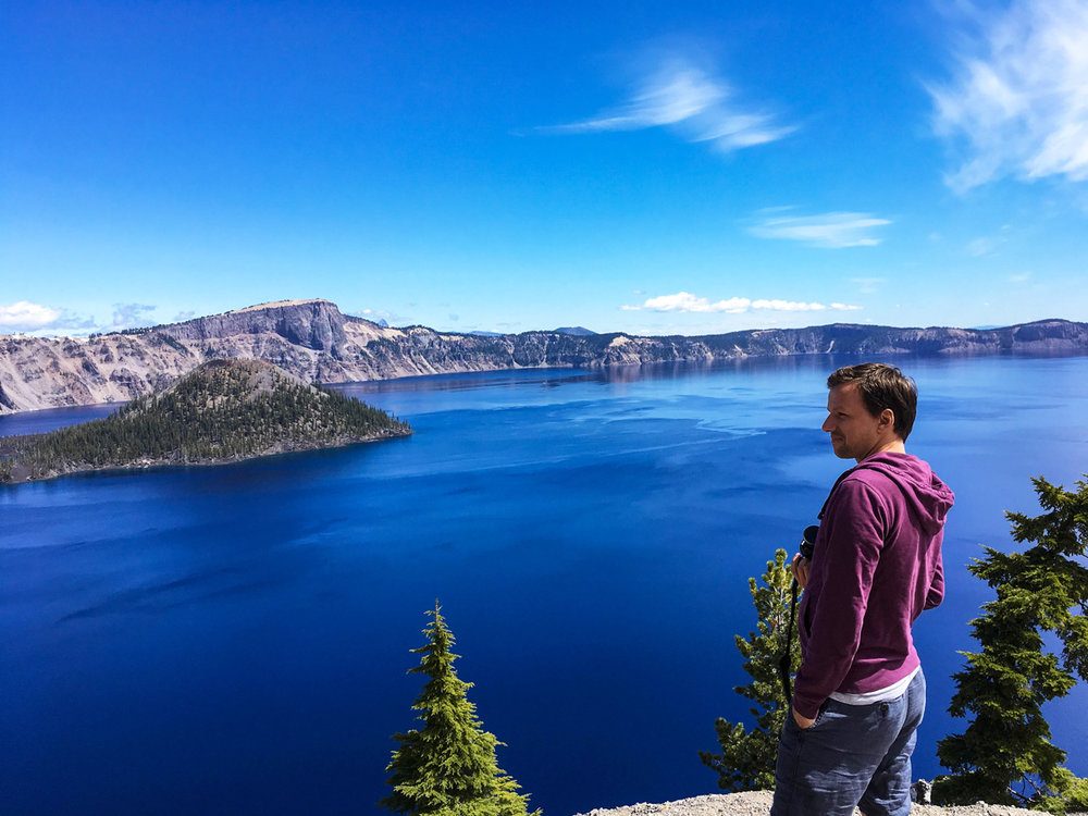 Crater Lake National Park in June