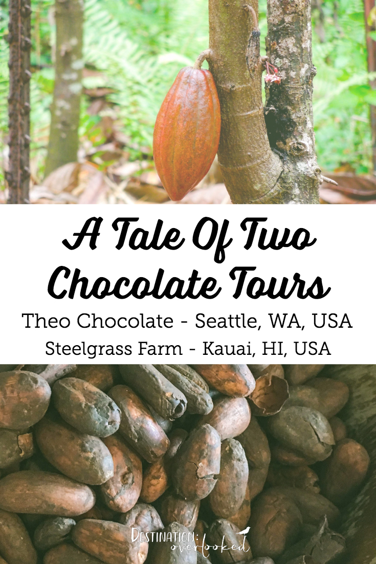 A Tale Of Two Chocolate Tours - Theo Chocolate Seattle and Steelgrass Farm Kauai #chocolate #cacao #seattle #hawaii