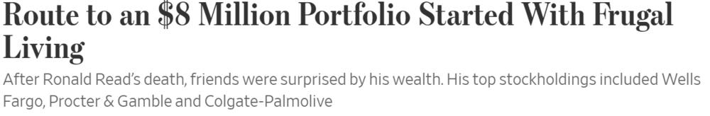 Headline from The Wall Street Journal 19/03/19