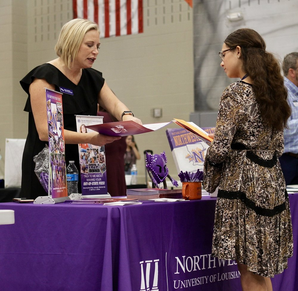 College Night - College Representatives provide much needed answers.