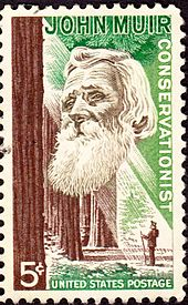 This stamp dedicated to John Muir was issued April 29, 1964.