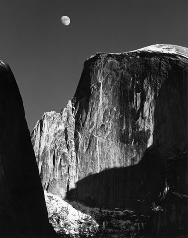 """Moon and Half Dome"""
