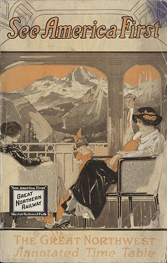 Great Northern Railroad Timetable for Glacier National Park