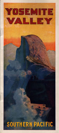 Brochure for Yosemite Valley produced by Southern Pacific Railroad, circa 1924