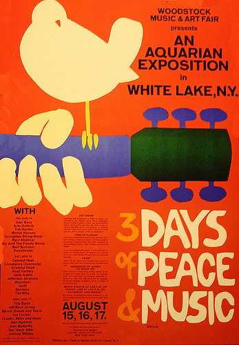 Woodstock Poster, 1969    This is placeholder text. This text doesn't belong here, so it must be placeholder text.     FOUND OBJECT / Rock & Roll: The 1960s