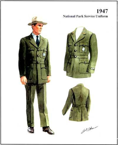 Park Ranger Uniform, 1947    This is placeholder text. This text doesn't belong here, so it must be placeholder text.     FOUND OBJECT / National Parks