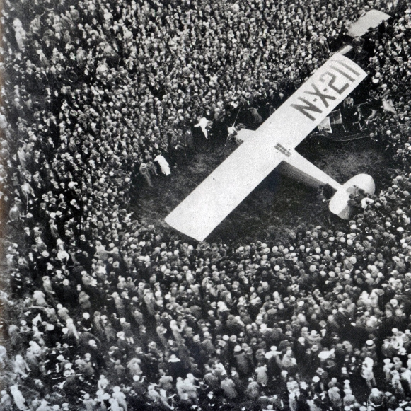 NONSTOP TO PARIS   Charles Lindbergh completes the world's first transatlantic flight in 34 hours.    EPISODES / Decades: The Roaring '20s