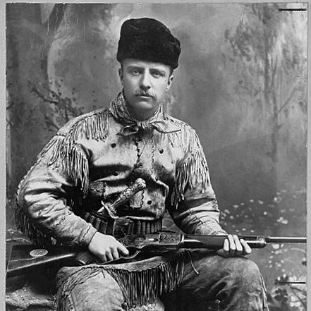PHOTO OF YOUNG THEODORE ROOSEVELT, 1885     FOUND OBJECT / National Parks