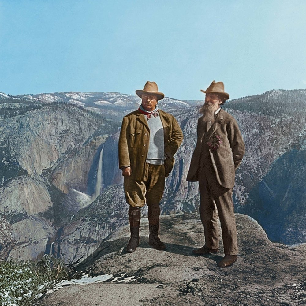 THE CAMPING TRIP THAT CHANGED AMERICA   President Theodore Roosevelt joins naturalist John Muir to discuss the future of American conservation.    EPISODES / National Parks