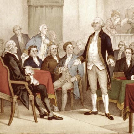 A DECLARATION IS WRITTEN   The First Continental Congress meets in Philadelphia to issue its Declaration of Independence.     EPISODES / Road To Revolution