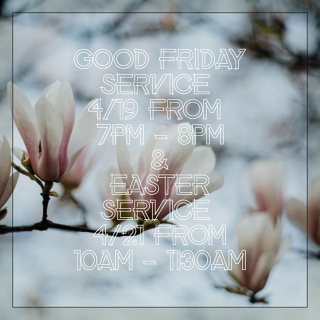 Join us for Good Friday Service on 4/19, 7pm-8pm @ the Plymouth Meeting Community Center and for Easter Service on 4/21, 10am-1130am @ the Doubletree Plymouth Meeting. More details @ https://www.libertimontco.org/calendar We would love to see you there!