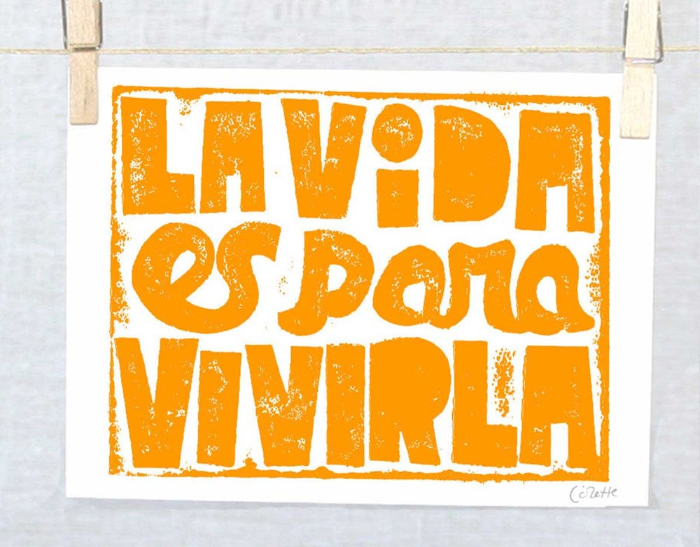 la-vida-es-para-vivirla-life-is-for-living-spanish-quote-typography-etsy-colette-raw-art-letterpress-spanish-wall-art-spanish-apartment-therapy-spanish-word-porn-spanish-immersion-comprende.jpg
