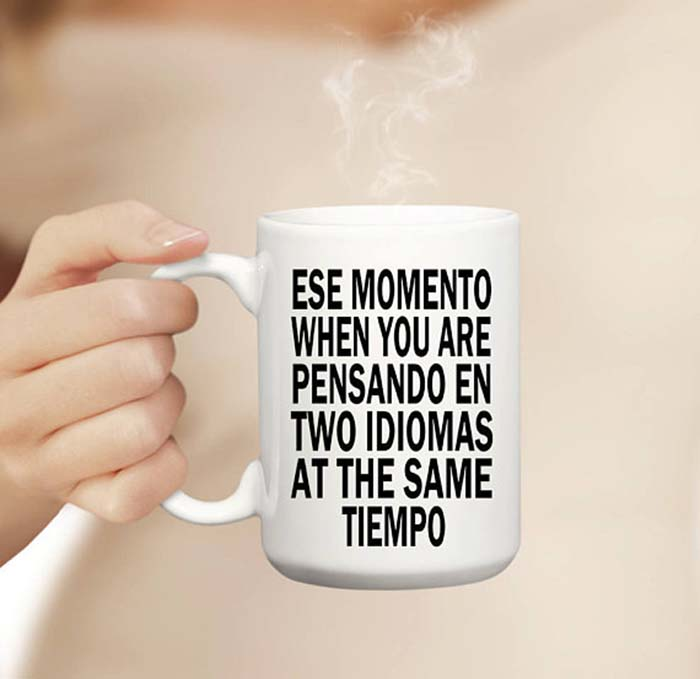 Spanish Coffee Mugs Comprende Magazine