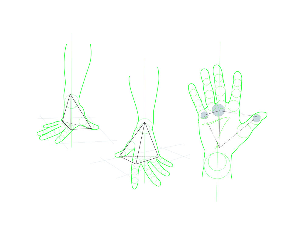 (Tap to see full image) Detail of hand position with points of contact.. .