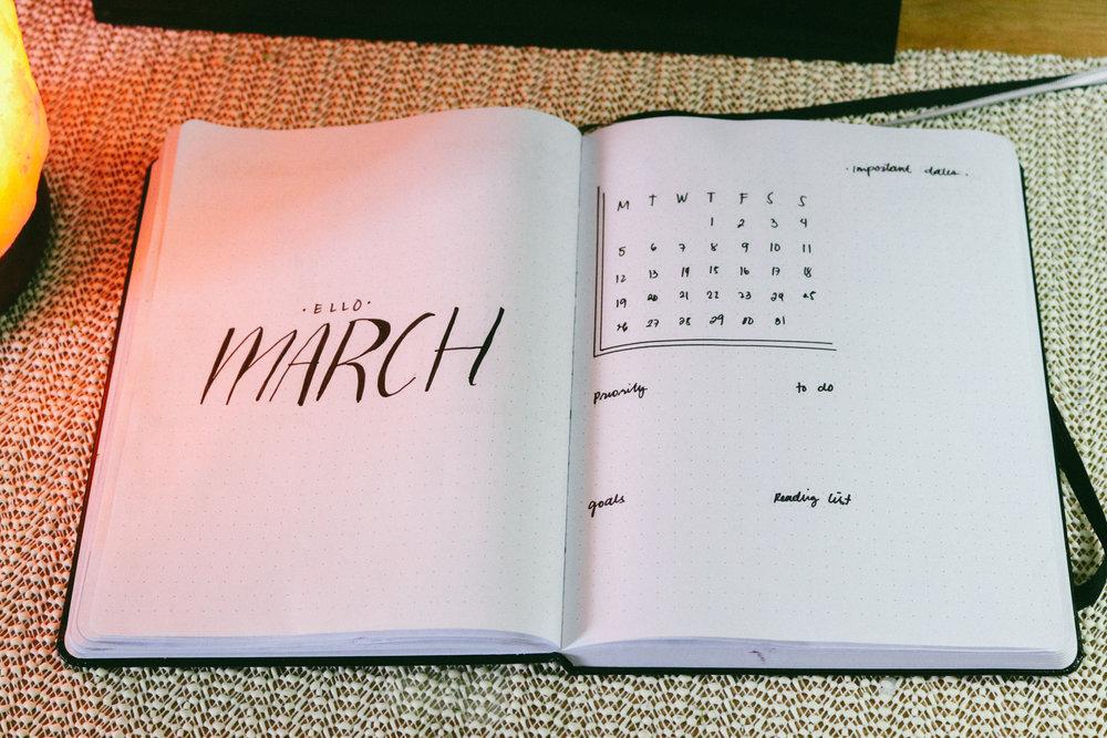 march-2018-bullet-journal