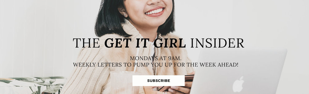 get it girl insider | lifestyle design and personal development | newsletter | Nicole Constante | mailing list | free resource library