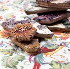 Handblocks and Lee Jofa fabric via Design Confidential
